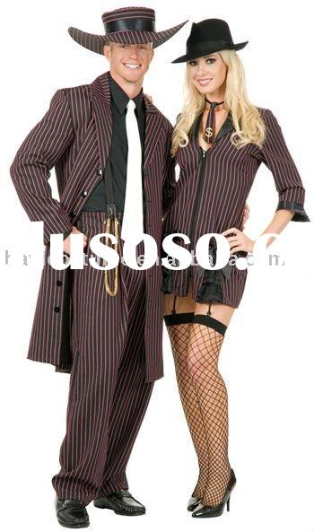 Zoot Suit Halloween Costume-Flapper and Gangster