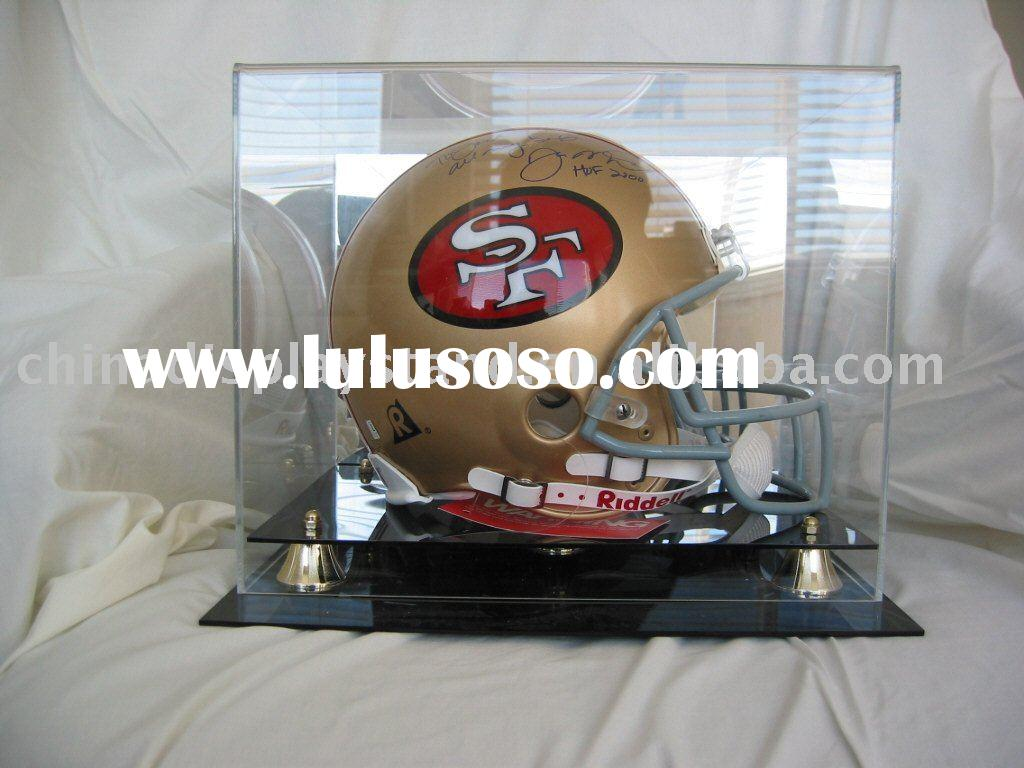 acrylic football helmet display case