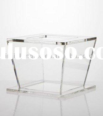 acrylic square wedding cupcake stand