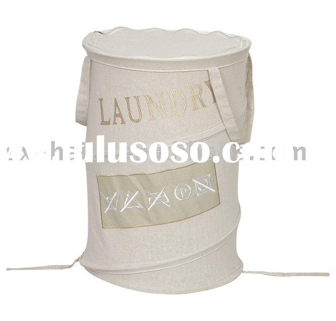 collapsible cotton laundry basket