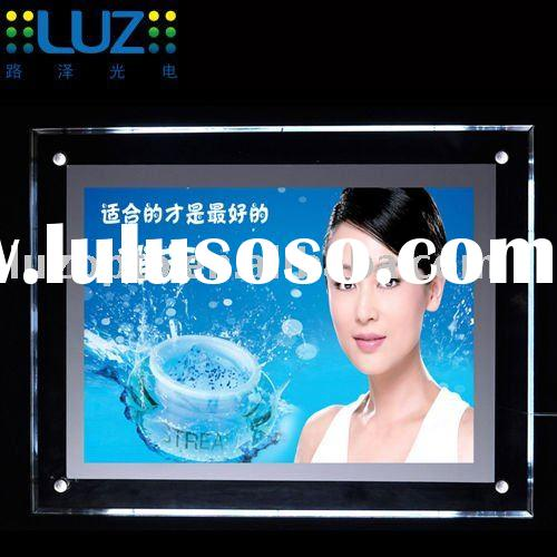 crystal frame LED light box