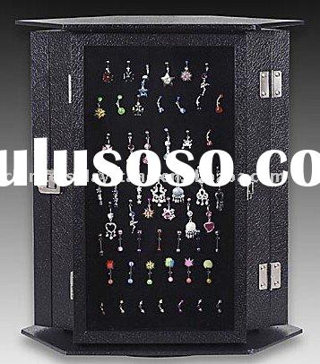 earring display stands,3-sided rotating jewelry display stands