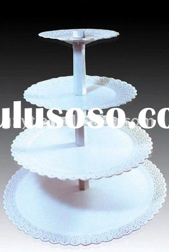 hot-selling 3 layer Plastic Cake Stand
