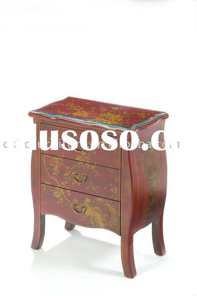 leather antique night stand