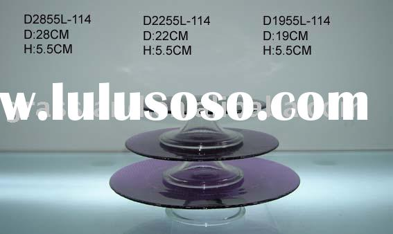 purple glass cake stand sets