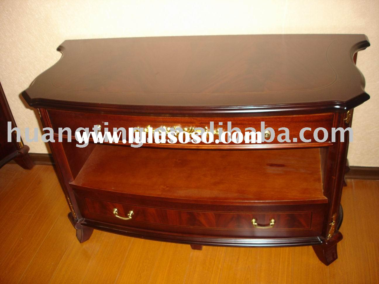solid wood small TV stand,wooden TV stand,european style TV stand.