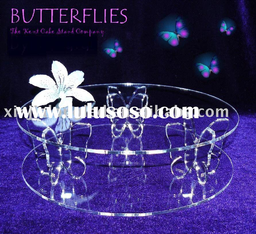 unique with butterfly solid shape supporting cake stand,cake holder