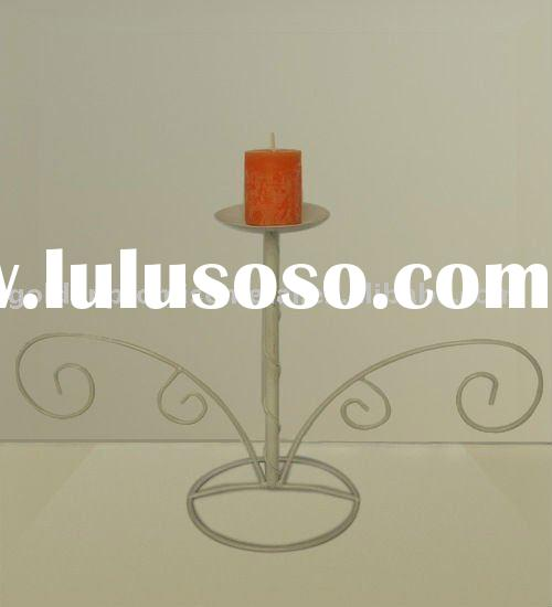 wrought iron candle stand