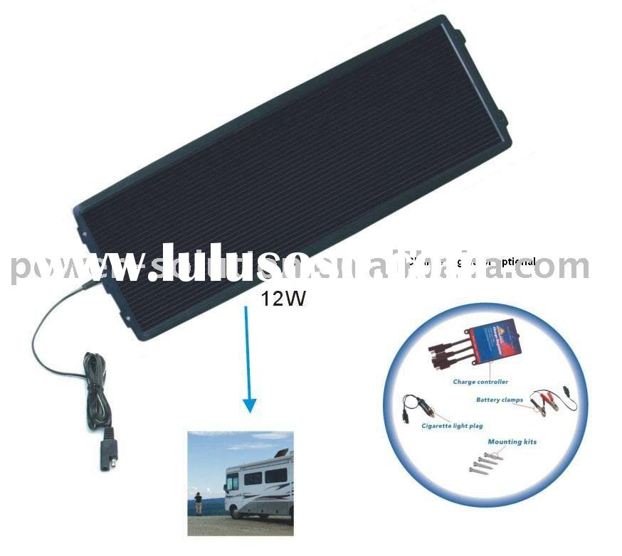 12v solar battery charger kit 12w amorphous solar panel