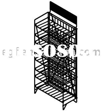 8 Tier Collapsible Metal Potato Chips Rack with Sign Plate
