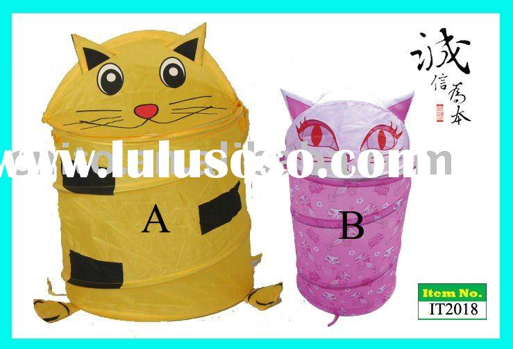 Beautiful Foldable Collapsible Pop-up Cat Cartoon Toy Storage Bin Garbage Can Laundry Bag Hamper Dep
