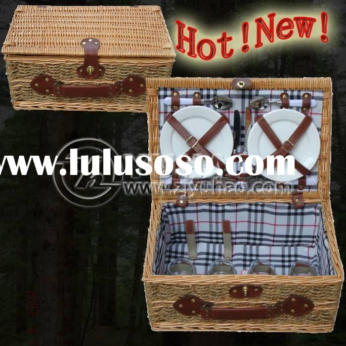 Hand-made Willow Gift Picnic Basket