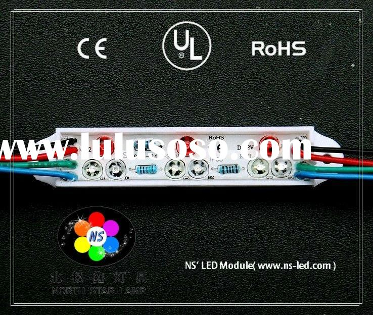 Hot selling M12 High quality 3RGB IP68 LED sign module,UL,CE,RoHS,fiber optic module