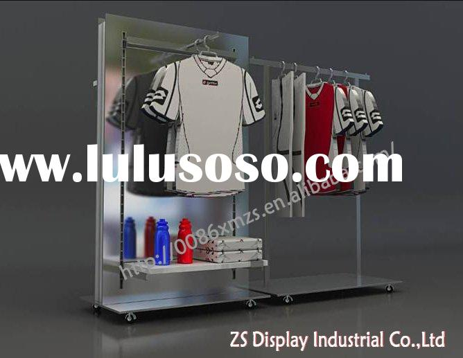 Metal hanging display racks