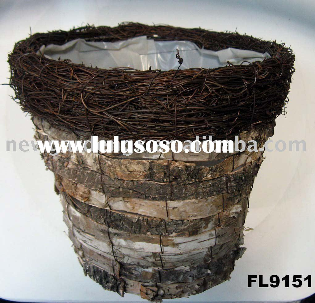 Natural Birch Bark Basket