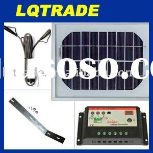 Solar Panel Power Kit 5 Watt 12 Volt Monocrystalline
