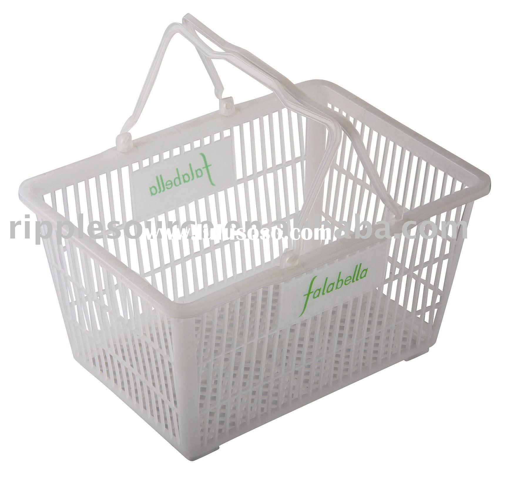 plastic shopping basket super market basket,pp shopping ware