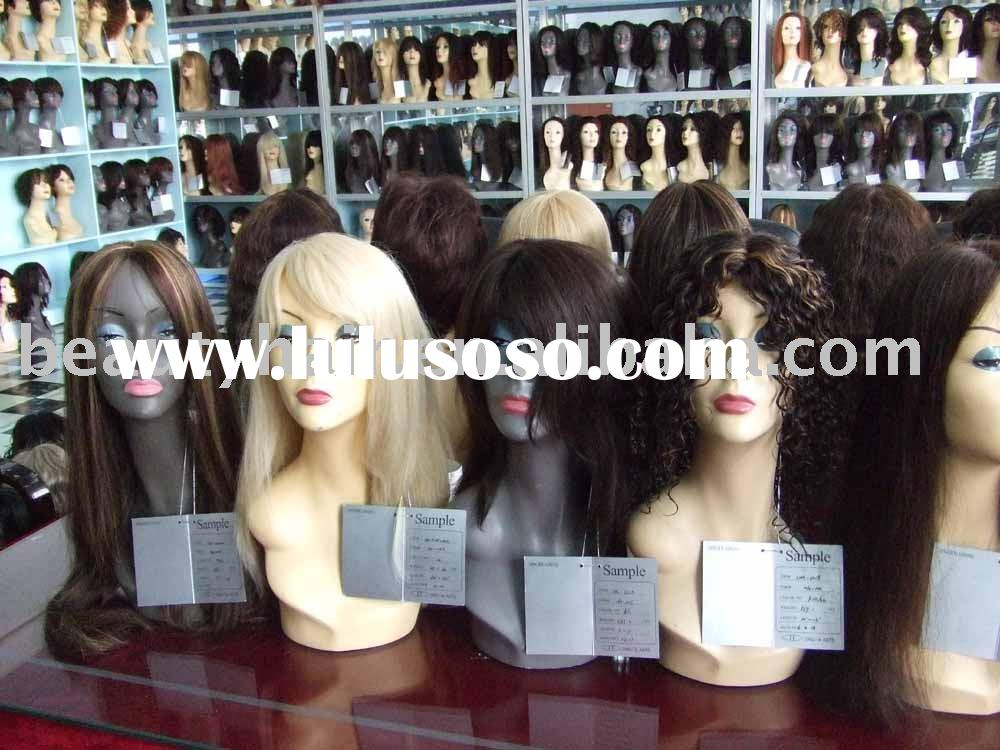 100% human hair wigs, synthetic hair wigs