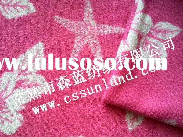 100 spun terry cloth fabric with printing