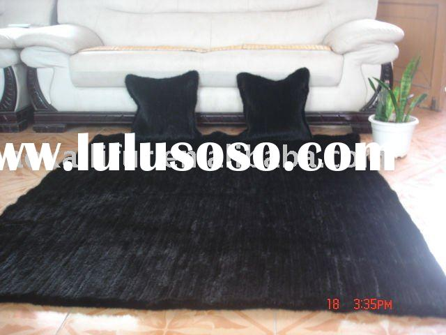 2011 HOT-SELLING KNITTED MINK FUR BLANKET FUR  CUSHION FUR THROW PILLOW MINK FUR RUG MINK FUR PLATE