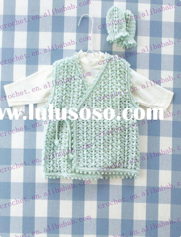 2011 Hand  crocheted  cotton baby wear