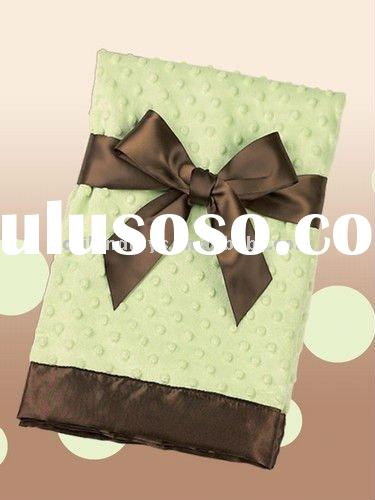 2011 high quality satin baby blankets