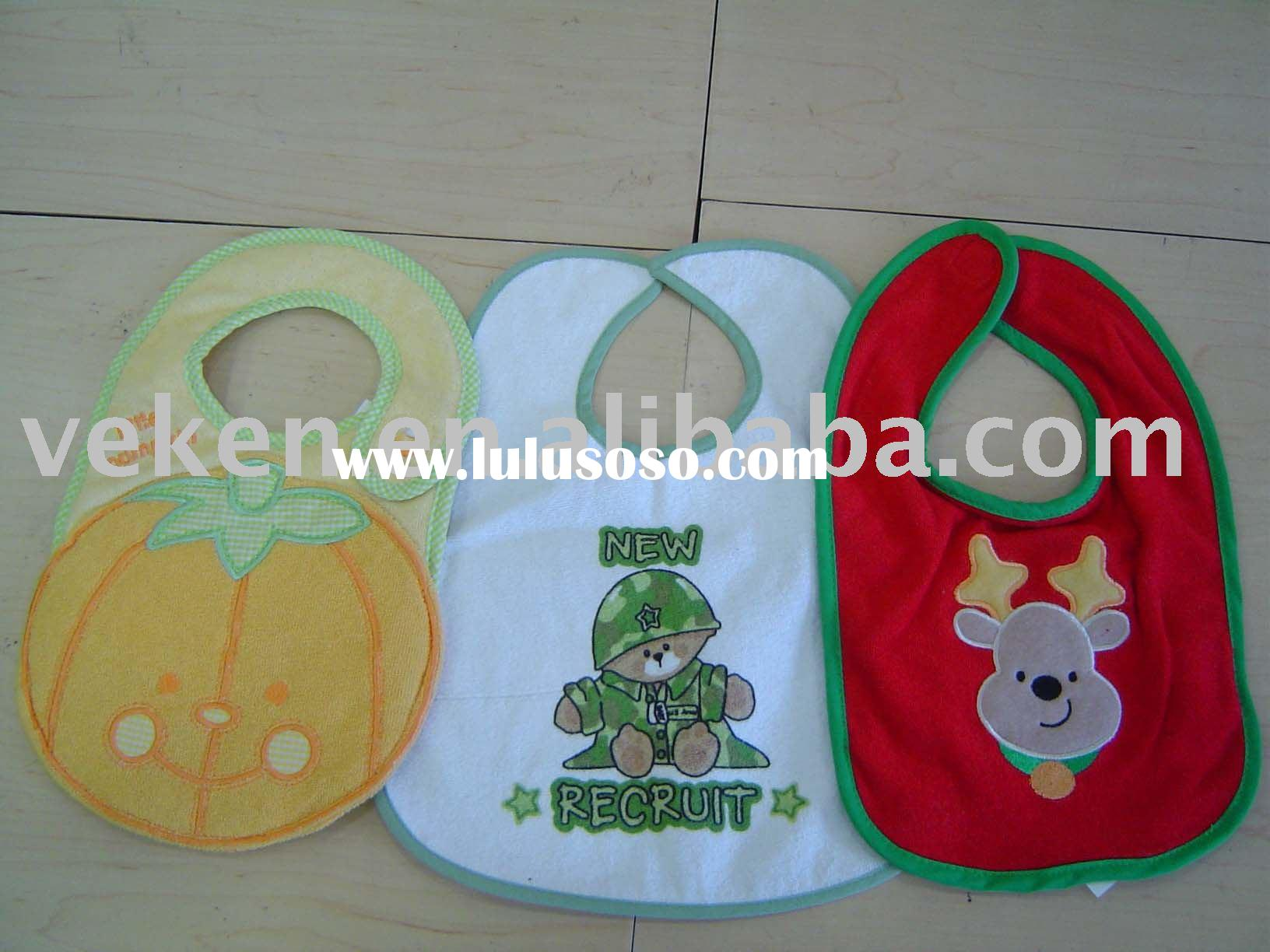 Applique Baby Bibs 3-pk