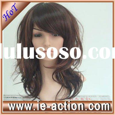 Cheap party wigs long wavy synthetic wigs