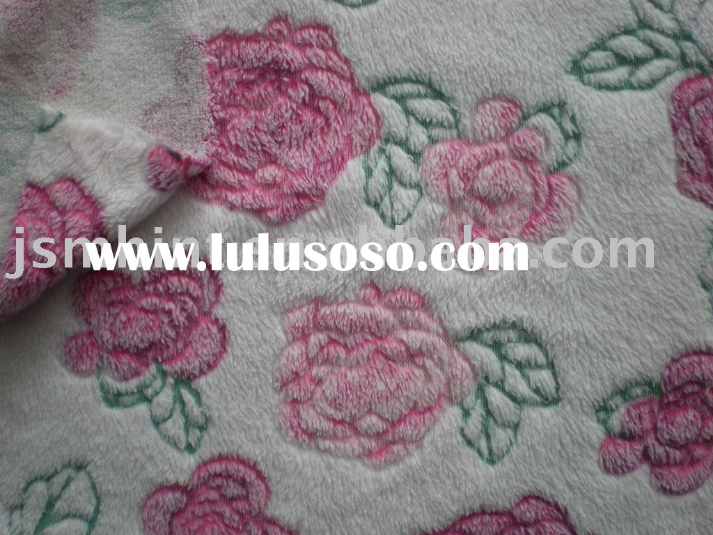 Double coral fleece/baby fabric/blanket fabric/soft fabric