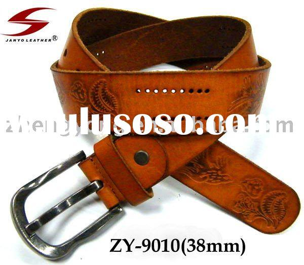 Embossed Red 100% Genuine Leather strap(Cow Hide)