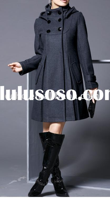 Flared wool coat ,fashion garment