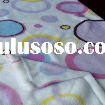 Printed Coral Fleece blanket for baby