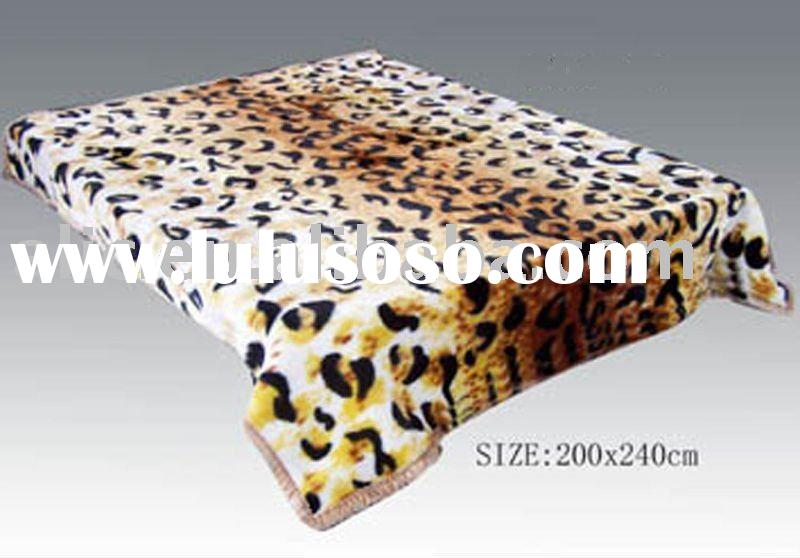Supersoft Raschel Mink Blanket(Animal Skin Design)