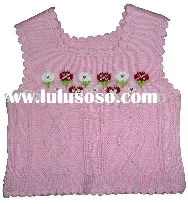 Knitting Pattern For Ruffle Baby Vest : Babys sleeveless sweater,sweater design for kids for sale - Price,China ...