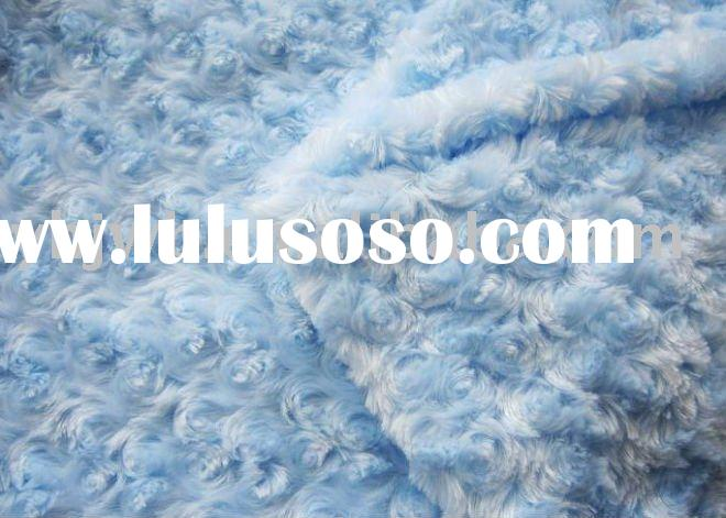 embossed tie dye plush fabric/toy plush fabric/polyester toy fabric