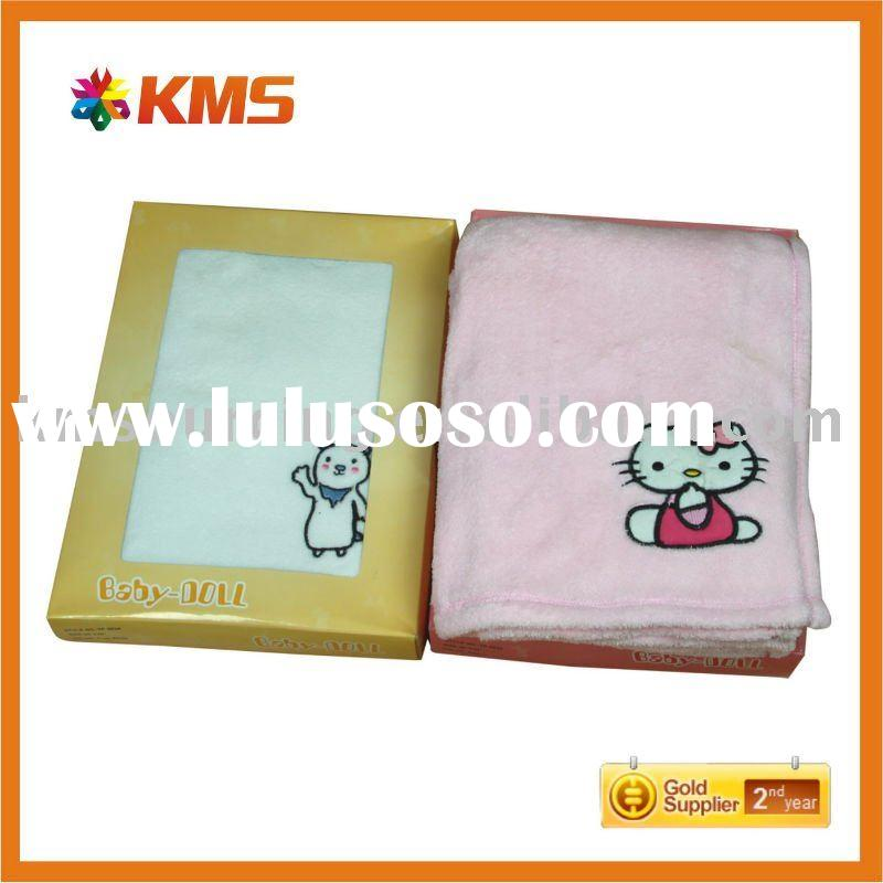 embroidery baby fleece blanket
