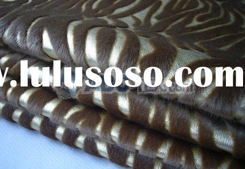 nylon flocked artificial leather fabric