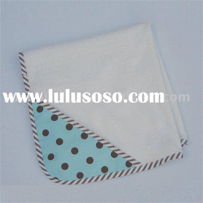 organic cotton/bamboo& cotton hooded baby blanket BC-BR1200