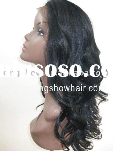 synthetic hair lace front half wig