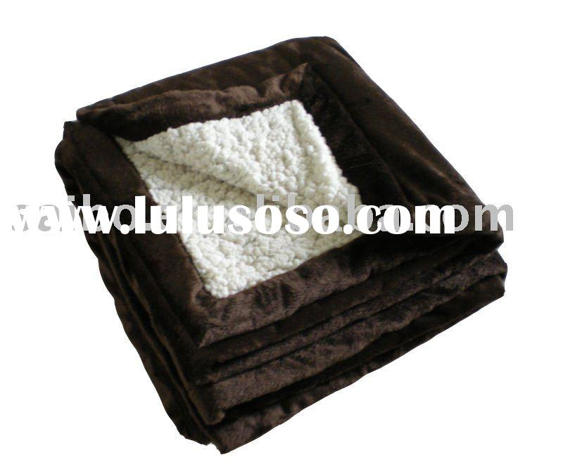 two face micro mink and micro sherpa fleece blanket