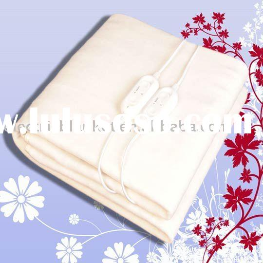 white fleece polyester electric warm blanket