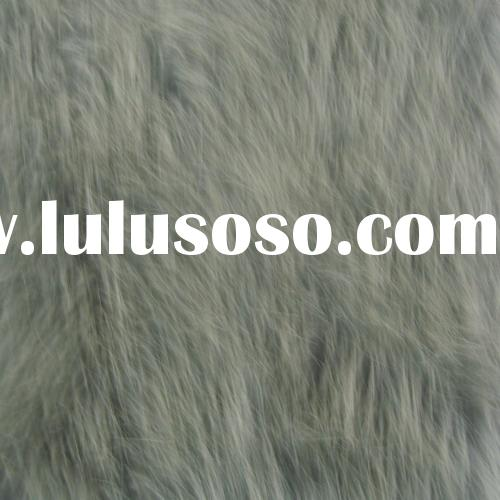 100% POLYESTER SYNTHETIC FUR  BONDED WITH SUEDE FABRIC FOR HOMETEXTILE