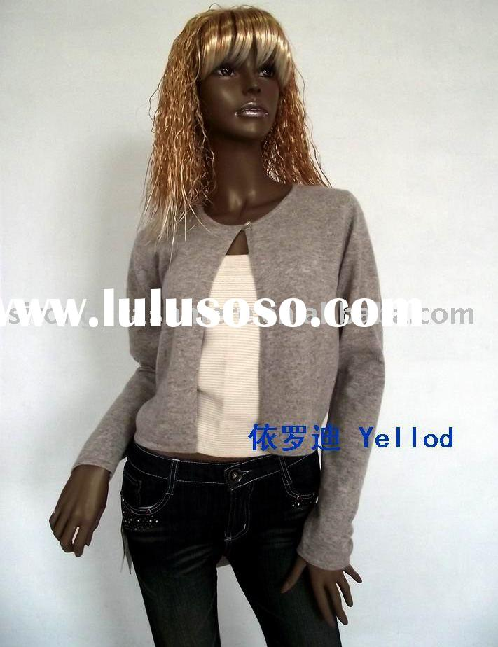 100% cashmere sweater woman (ladies') one button cardigan sweater