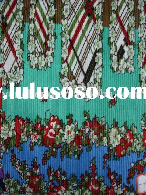 100% polyester knitting  fabric for dress and robes