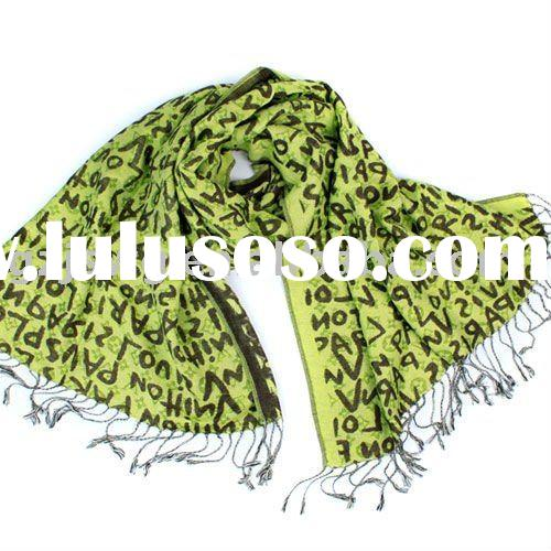2011 New Arrival brandname 100%Cotton long letter  Scarf Shawl Pashmina Pink Orange Green Rosy White