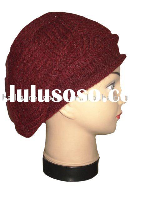 Angora Beret with Knitting Pattern