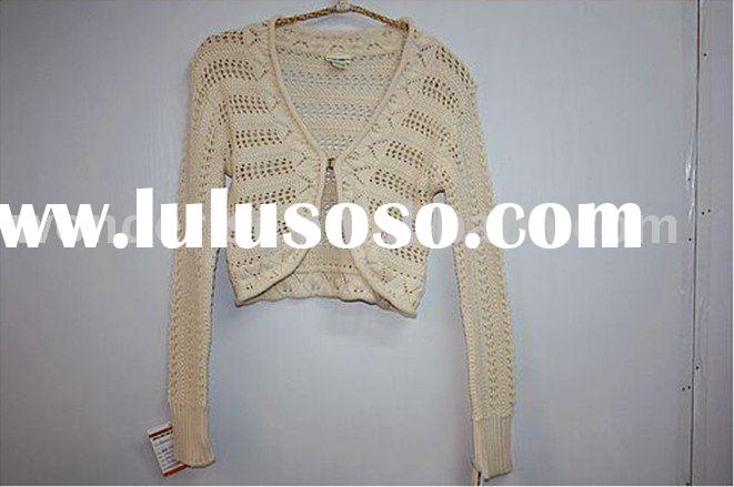Fashion shawl 100% cotton girl's crochet sweater