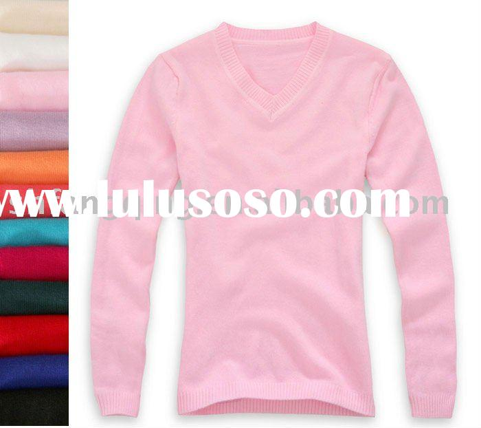Fashionable V neck knitting free patterns sweaters
