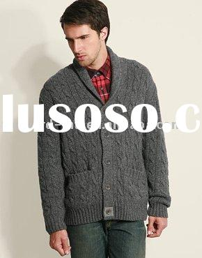 MEN'S WOOL SHAWL COLLAR CARDIGAN