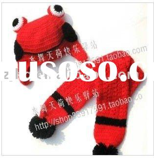 Manual knitting baby hat/scarf 2 pcs set